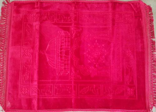 Haramain Prayer Mat Embossed Red